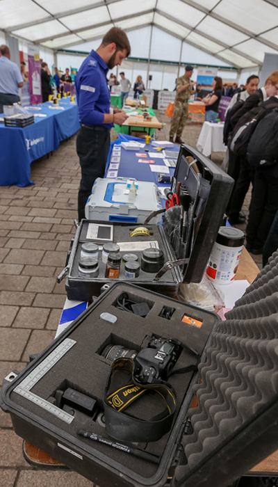 Police stall with photography equipment